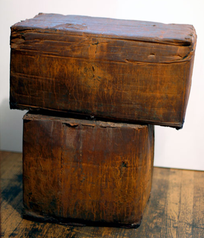Two Cast Iron Cardboard Boxes, 1994,   cast iron, 30 x 26 x 17 inches / 76.2 x 66 x 43.2 cm
