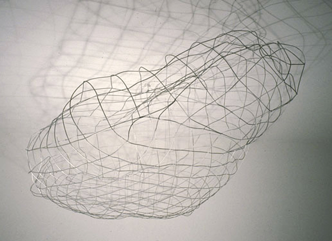 Wire Cloud, 1997,   welded and painted 11g steel wire, 30 x 108 x 70 inches / 76.2 x 274.3 x 177.8 cm