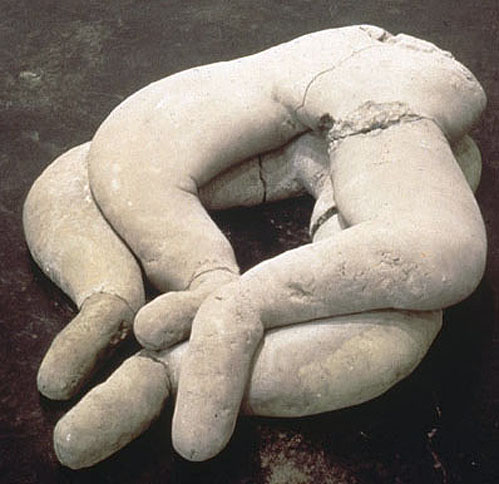 Couple, 1992,   cast concrete, 12 x 31 x 34 inches / 30.5 x 78.7 x 86.4 cm