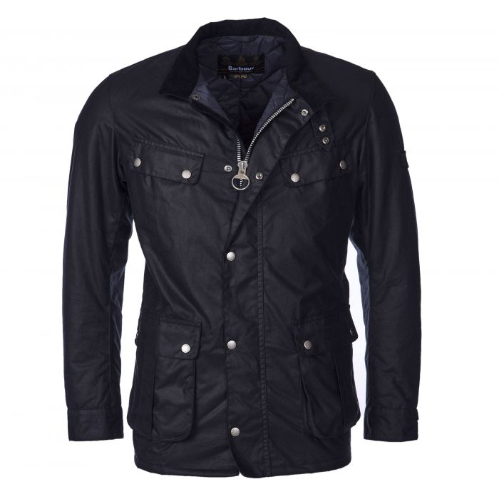 Duke navy wax jacket Barbour International