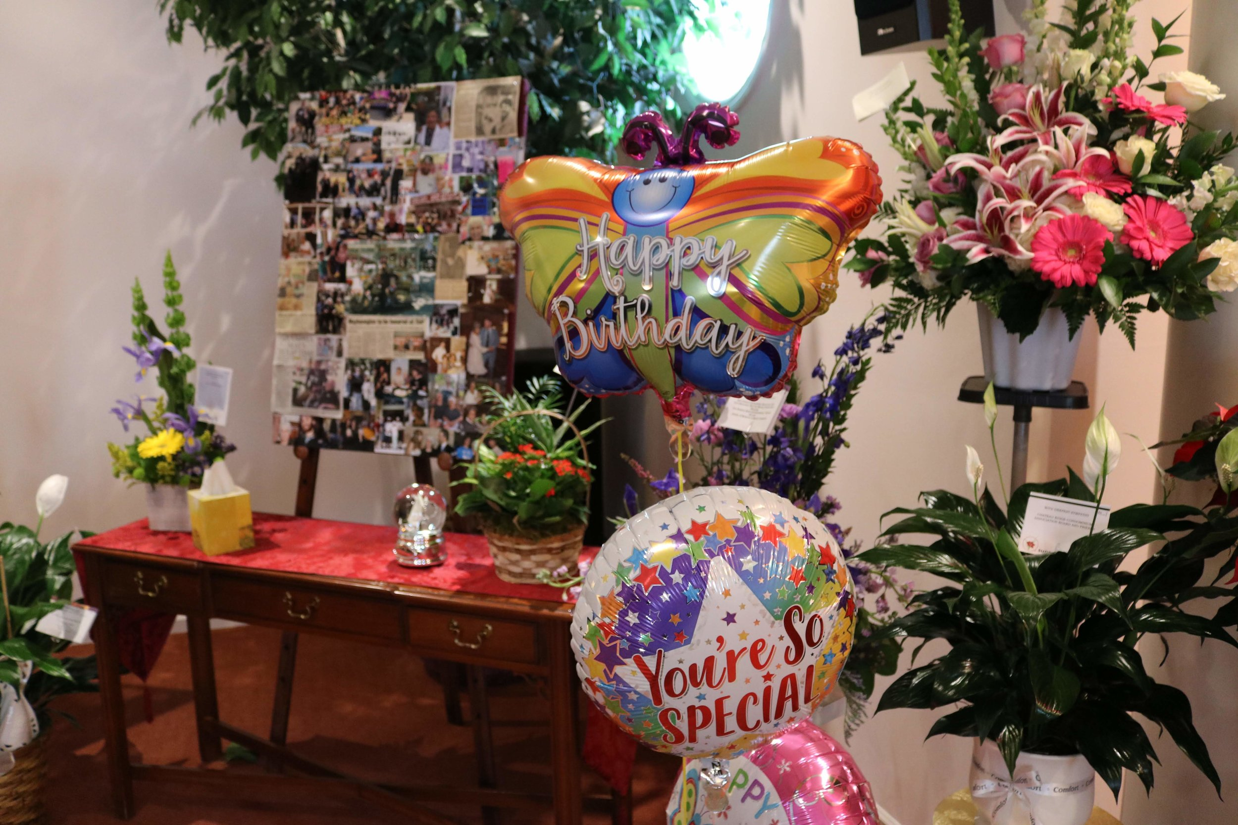 Clara's 90th birthday was the same day as her celebration of life service.