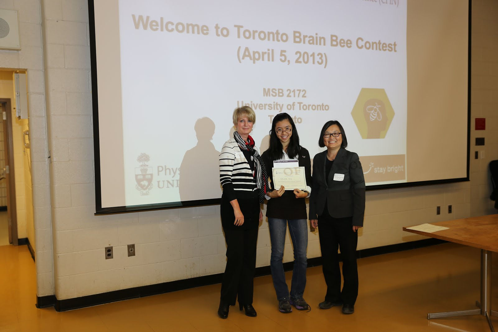 2013 Brain Bee ~ Third Place