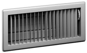 Vent register…has slider or arm that allows you to open or close vent.