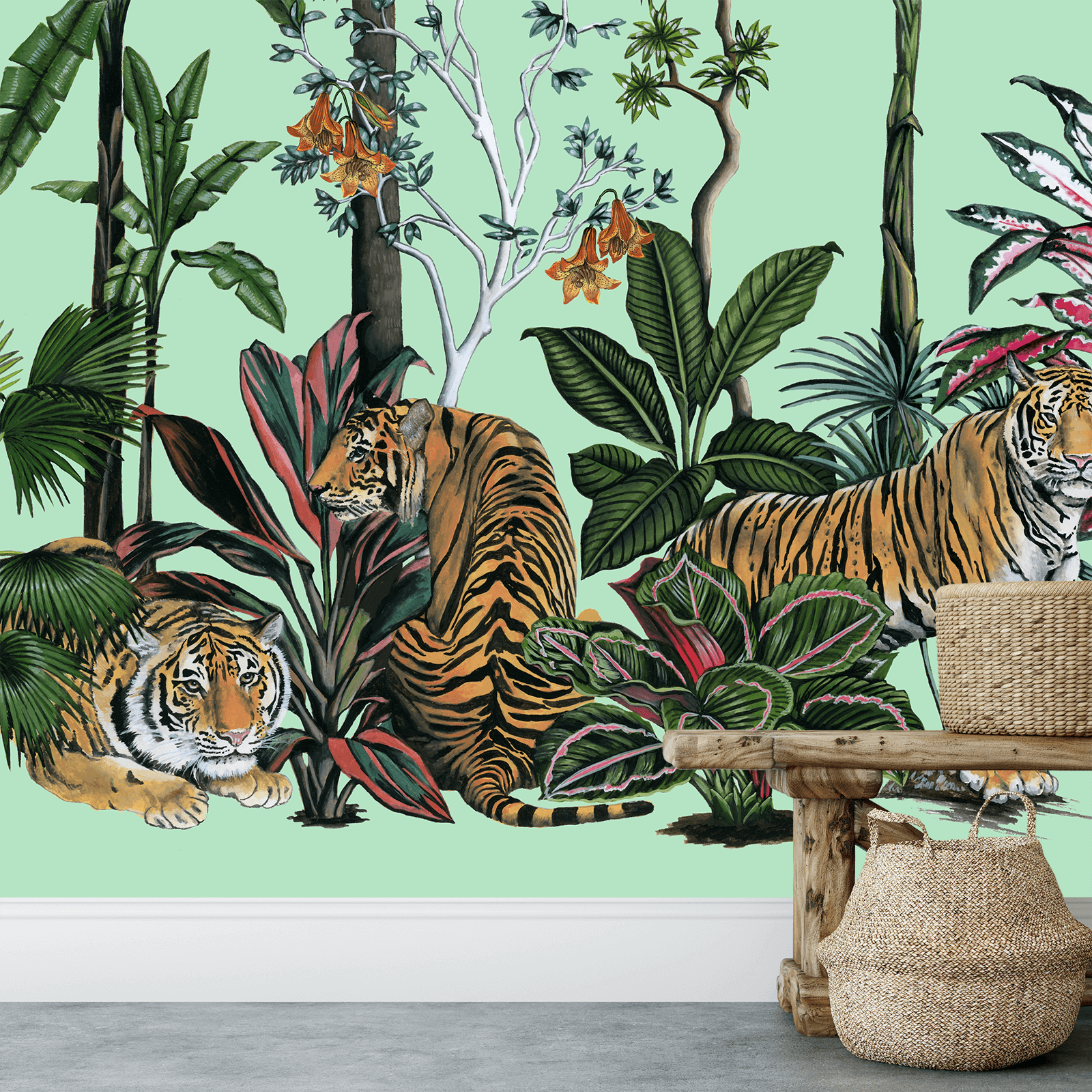 Tiger summer green bench (1).png