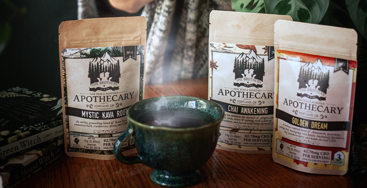 The Brothers Apothecary - The Brothers Apothecary began in 2015 by two brothers, Shane and Jesse, with a search for a delicious, healthy way to consume cannabis. They had a simple philosophy: combine organic ingredients with top quality, full-spectrum hemp for synergistic, therapeutic experiences. Their teas are blended with organic ingredients and paired with our USDA Certified Organic lab-tested craft hemp. Minimally processed craft hemp, no sugar, additives, fillers, or synthetic ingredients. Their facility is 100% renewable powered, and family owned and operatedProducts featuring East Fork: Teas, honey, capsules, topicals, tinctures, herbal smokable blends