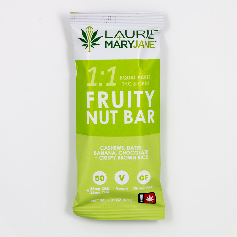 Laurie + MaryJane - Laurie + MaryJane is the namesake kitchen of prolific cannabis chefs and authors Laurie and Mary Wolf. In addition to a full line of infused edibles, L+MJ makes a delicious trail bar to enhance your active lifestyle.Products featuring East Fork: CBD Fruity Nut Bar, fudge, baked dessert bites
