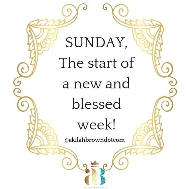 Use today to prepare for the week! Being prepared, makes life a little bit easier! Happy Sunday and much blessings to you and yours!