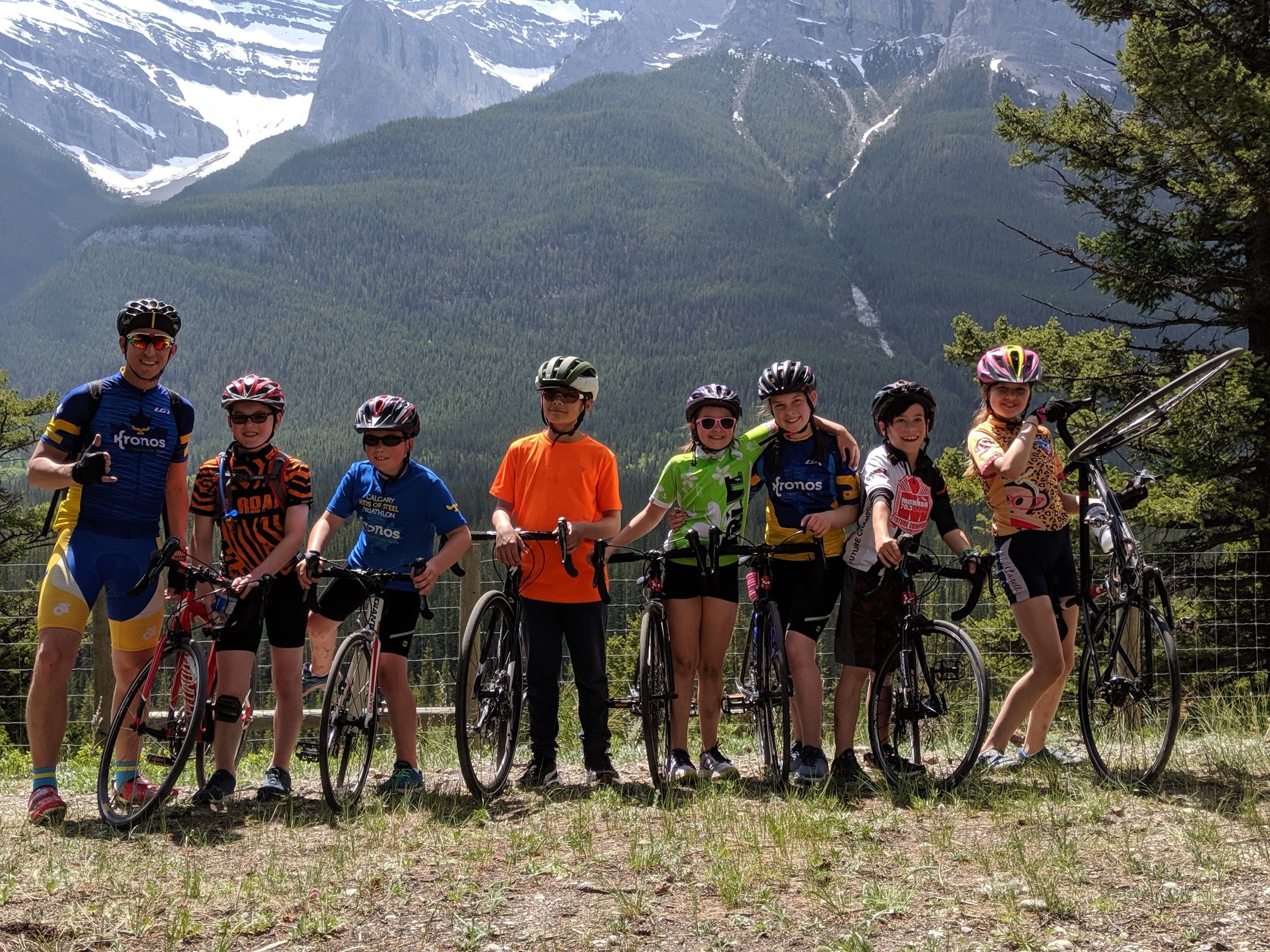 Long Bike Ride for our Youth Triathletes in Canmore and Banff