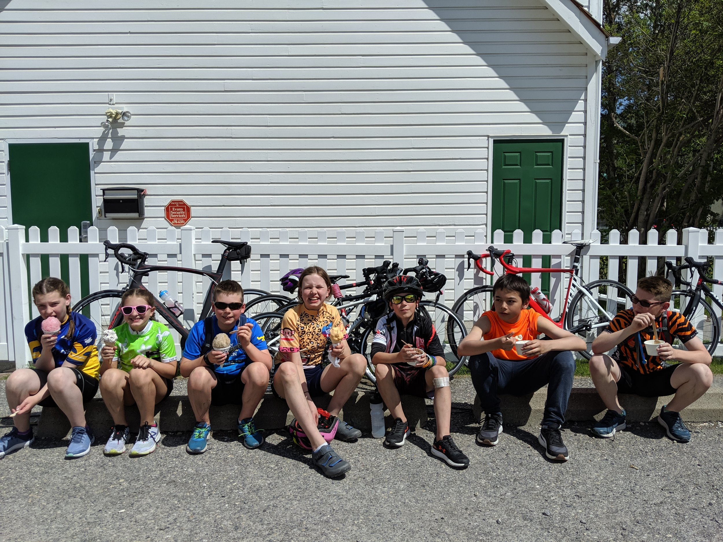 Ice Cream Stop after a long ride in Canmore and Banff