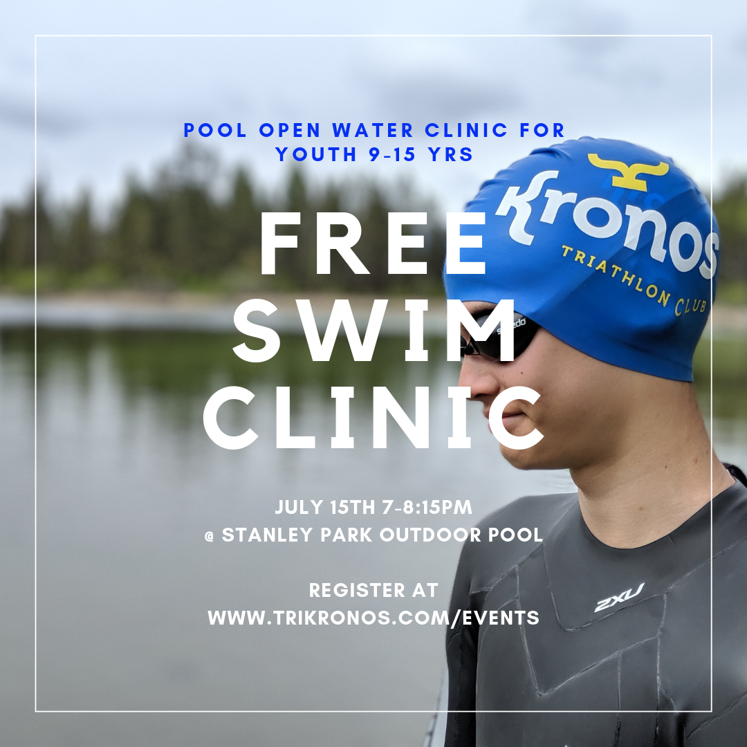 Free pool open water swim clinic for youth triathletes in Calgary