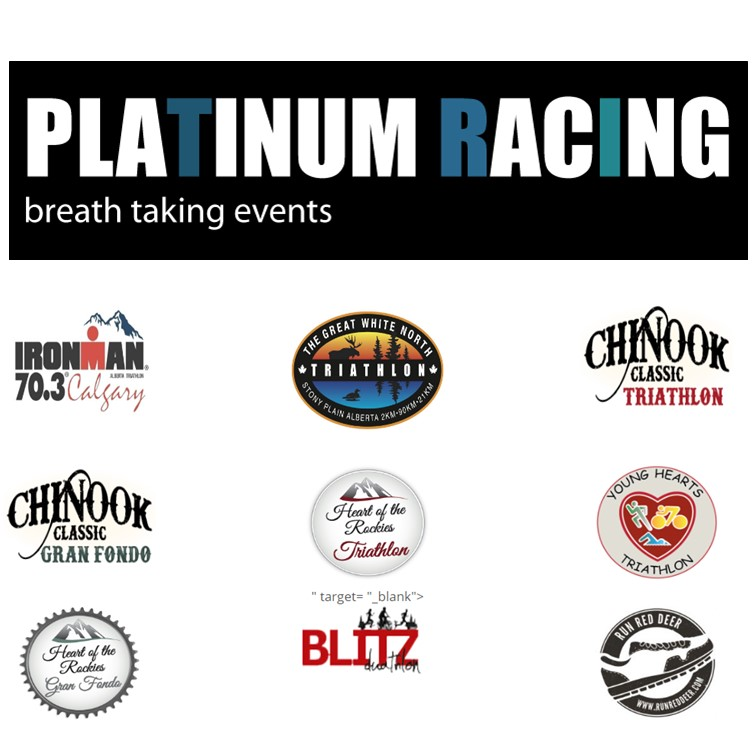 Check out their website for some of Alberta and BC's premiere triathlon, running and cycling events!
