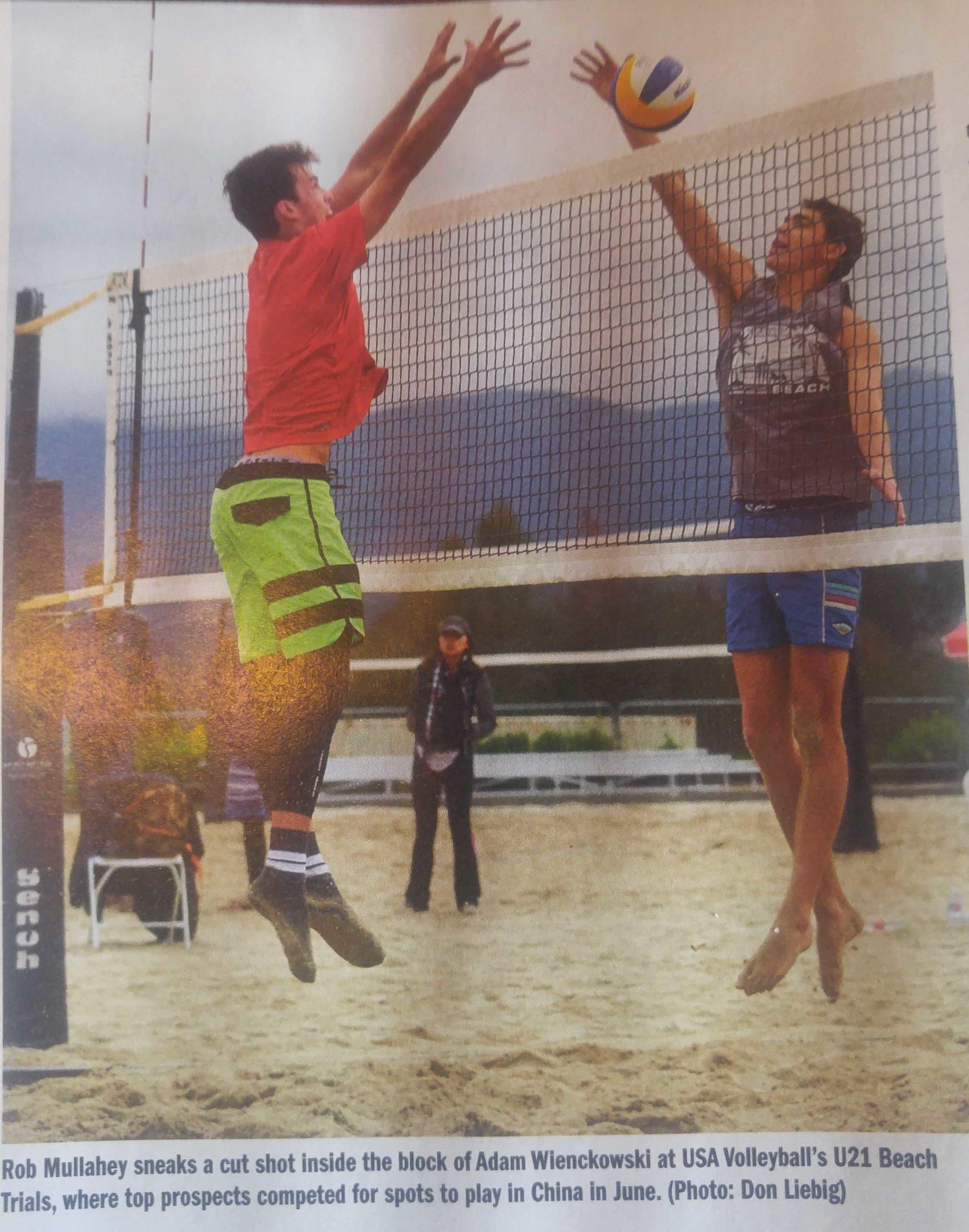 Adam wienkowski block jumps with great form.