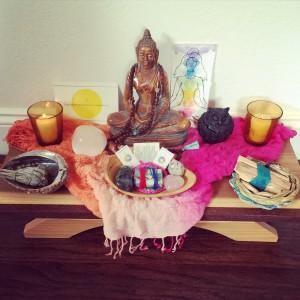 healing studio altar