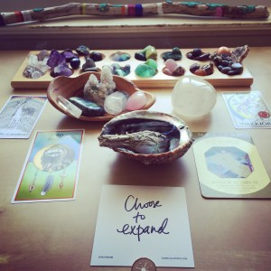 My recent full moon cleansing altar