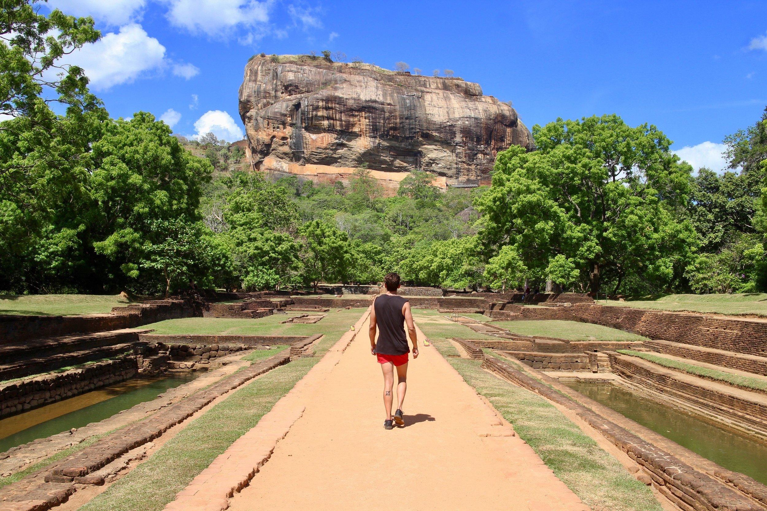 Sigiriya (or Lion Rock) from below.