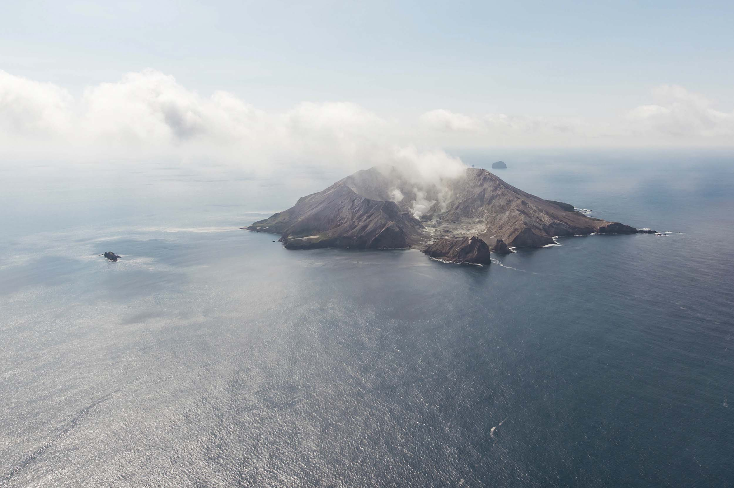 White Island from above on a White Island Flight's tour. Photo Tori Hayley