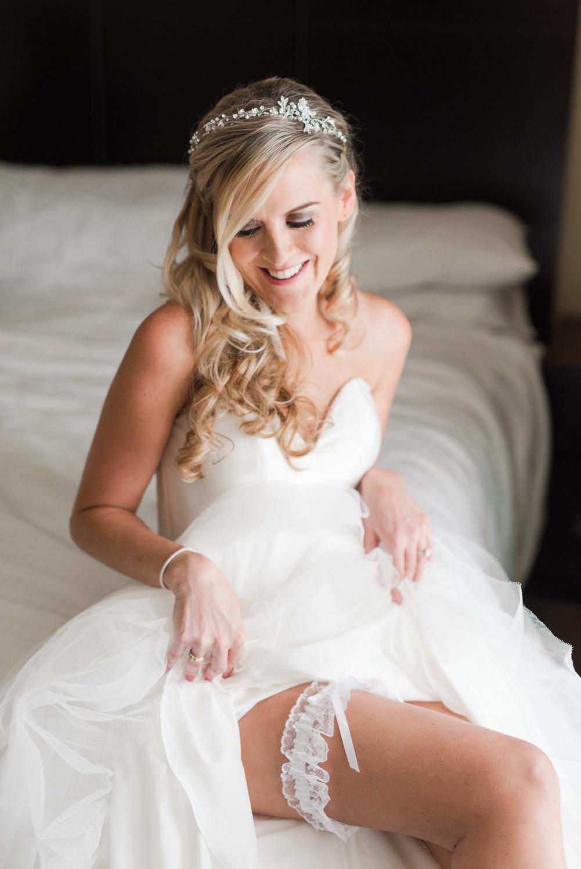 Dana Point Harbor Wedding Bride and Garter