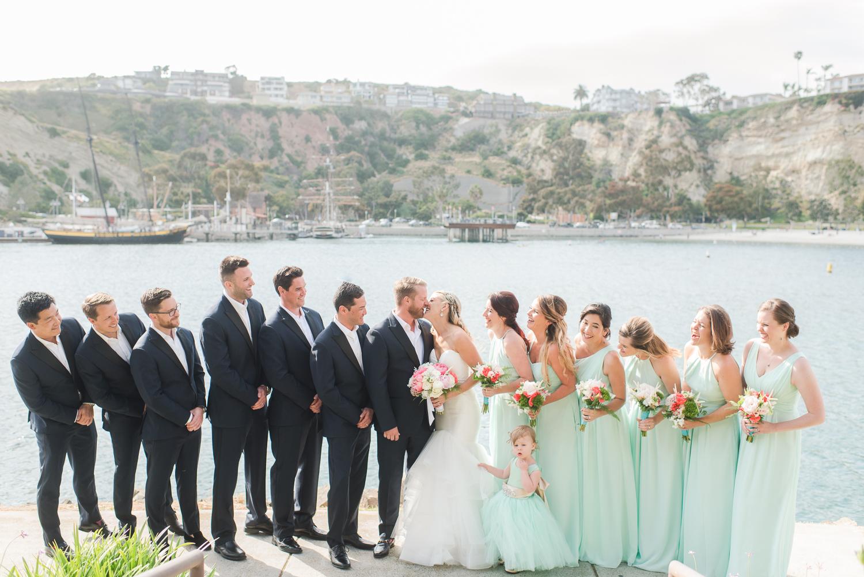 Dana Point Harbor Wedding Bridal Party