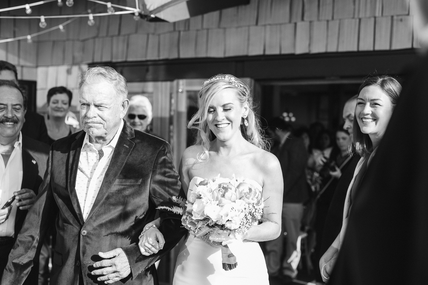 Dana Point Harbor Wedding Father and Bride