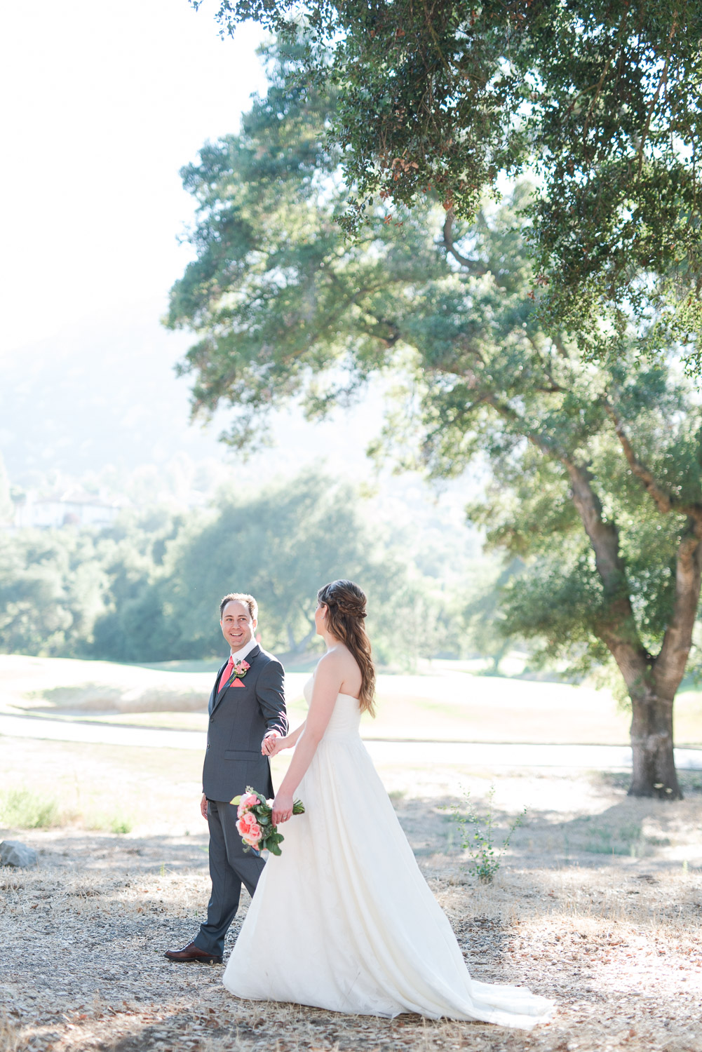 Mt. Woodson Castle Wedding // Brandi Welles Photographer // Bride and Groom