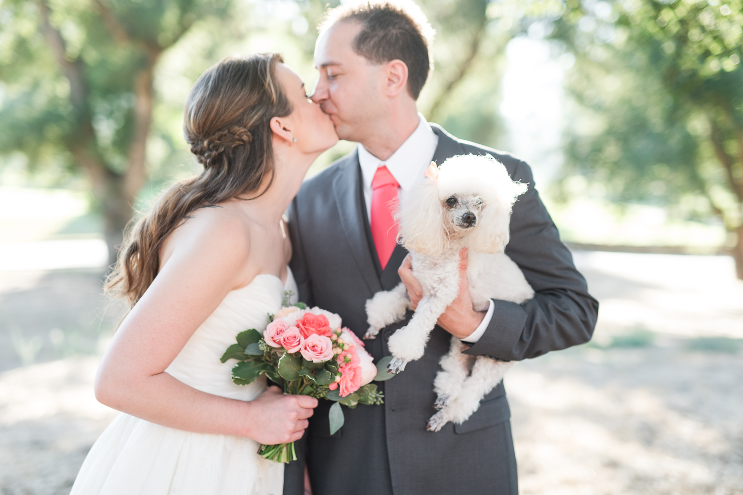 Mt. Woodson Castle Wedding // Brandi Welles Photographer // Bride Groom Dog