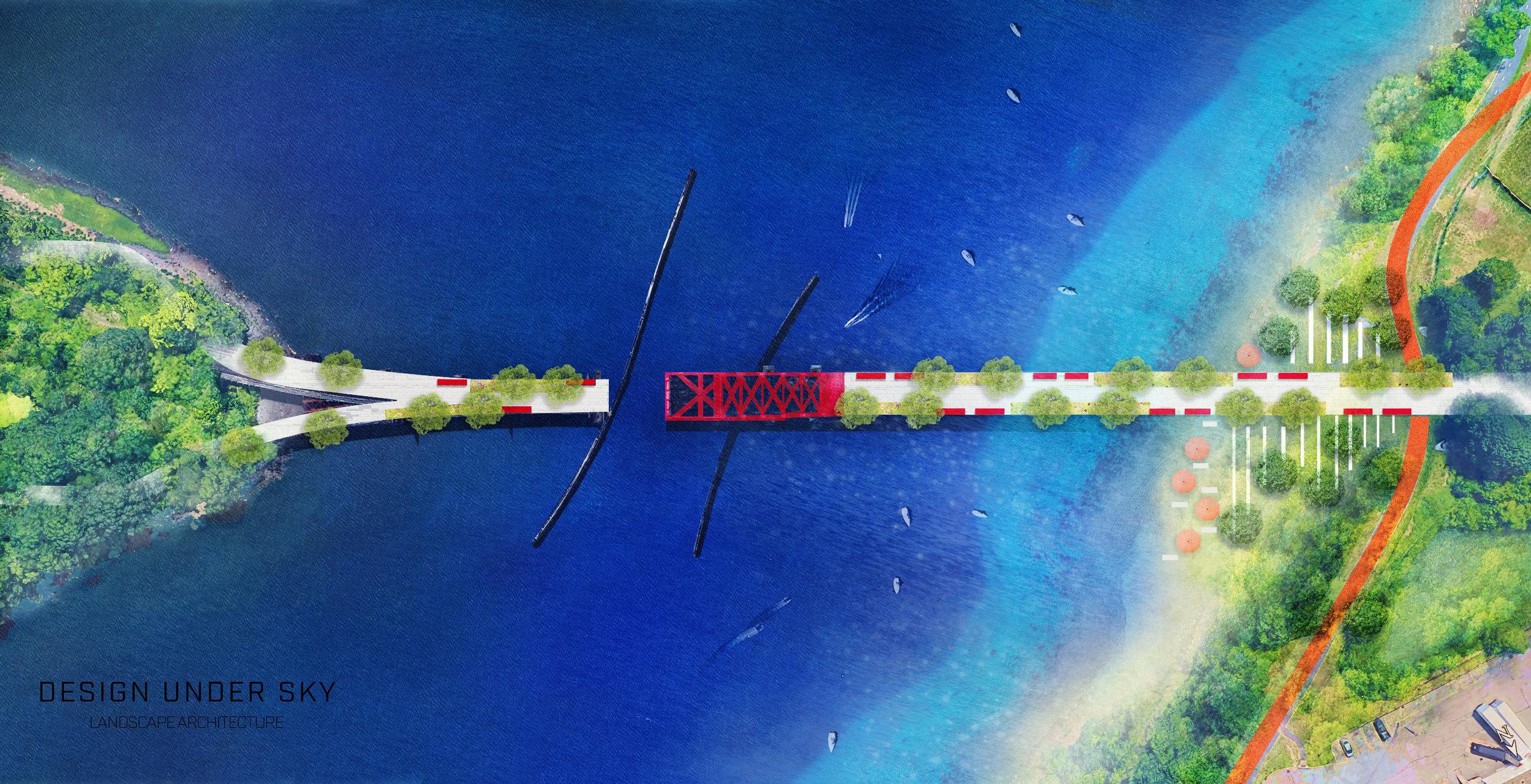 Conceptual Plan View Rendering by Design Under Sky