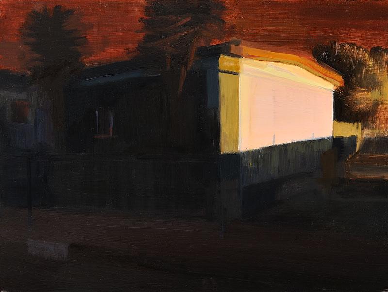 """8"""" x 10"""", oil on wood panel"""
