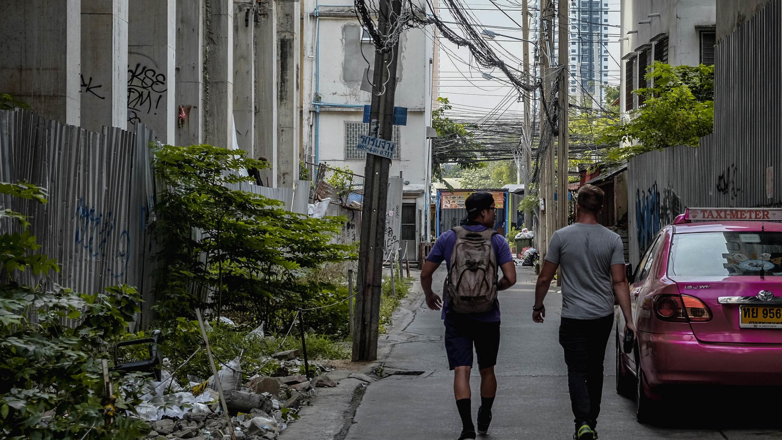Bean and Alan Walking.jpg