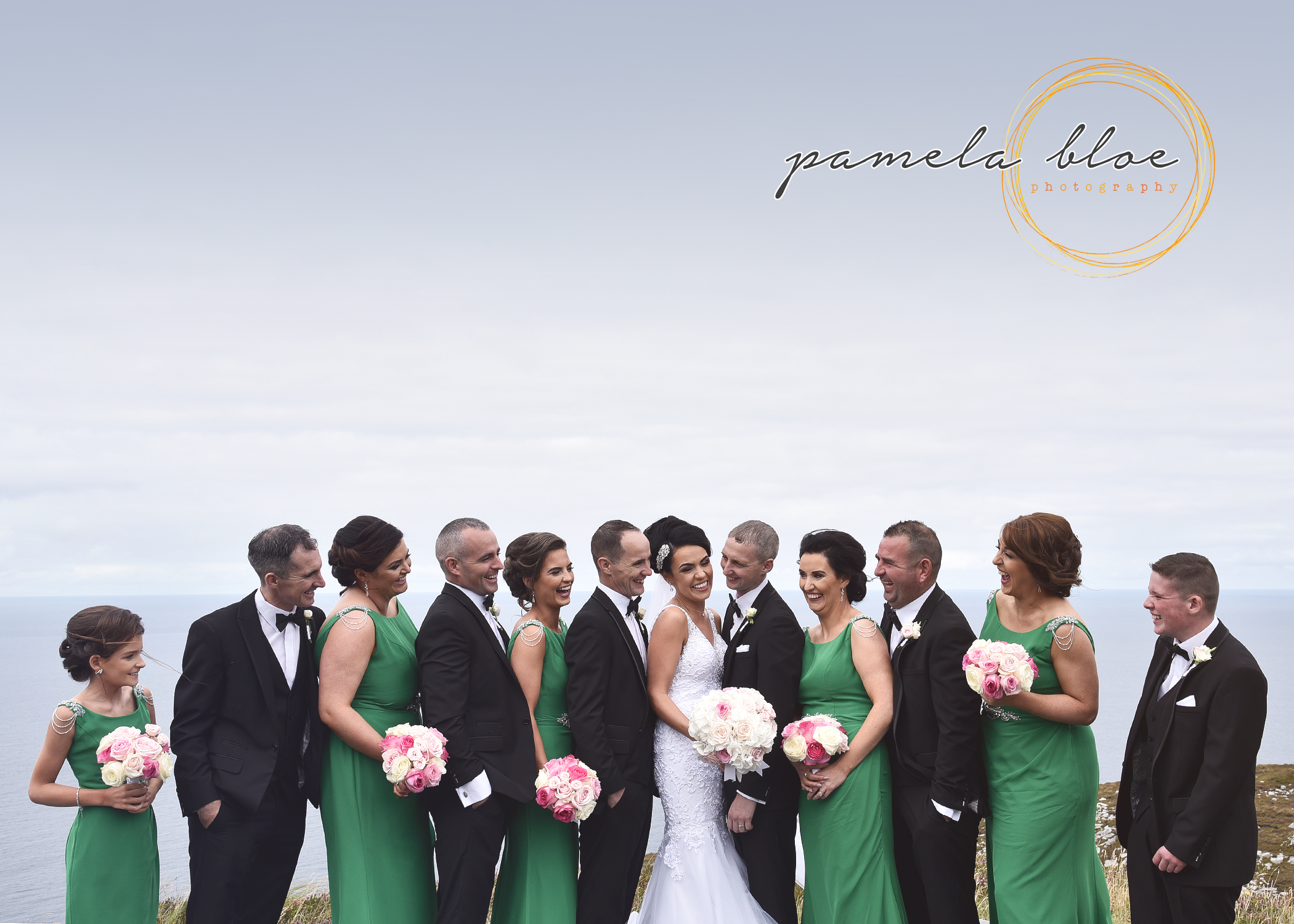 bridal-party-photo-session-horn-head-dunfanaghy-donegal