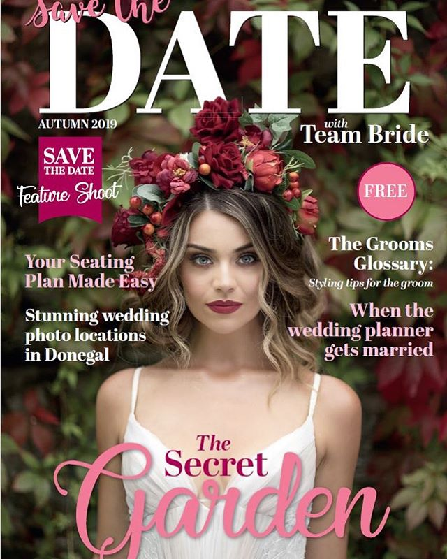 Can you cope with how gorgeous this is!!! Beyond excited to reveal the cover of the second edition of 'Save the Date with Team Bride' Magazine ❤️ I cannot tell you how proud we are of this edition and delighted to officially launch it this Sunday at @castlegrovehouse Wedding Fair from 2-5pm.  More snippets to follow but for now a HUGE thank you to the creative team who helped bring my vision to life to create this cover!! Photographer - @doherty_paul  Venue - @castlegrovehouse  Model - @eavanalmighty  Concept & Styling - @teambride.ie  Hair & Makeup -  @tonikelly.mua  Headpiece - @sassandhalo  Dress - @mcelhinneysbridalrooms / @misshayleypaige  @simply_divine_weddings  @redberryprint  @loughernecakes  @savethedate_we  #savethedatewithteambride #weddingmagazine #bridalmagazine #donegalbride #donegalwedding #nibride #niwedding #irishweddingmag