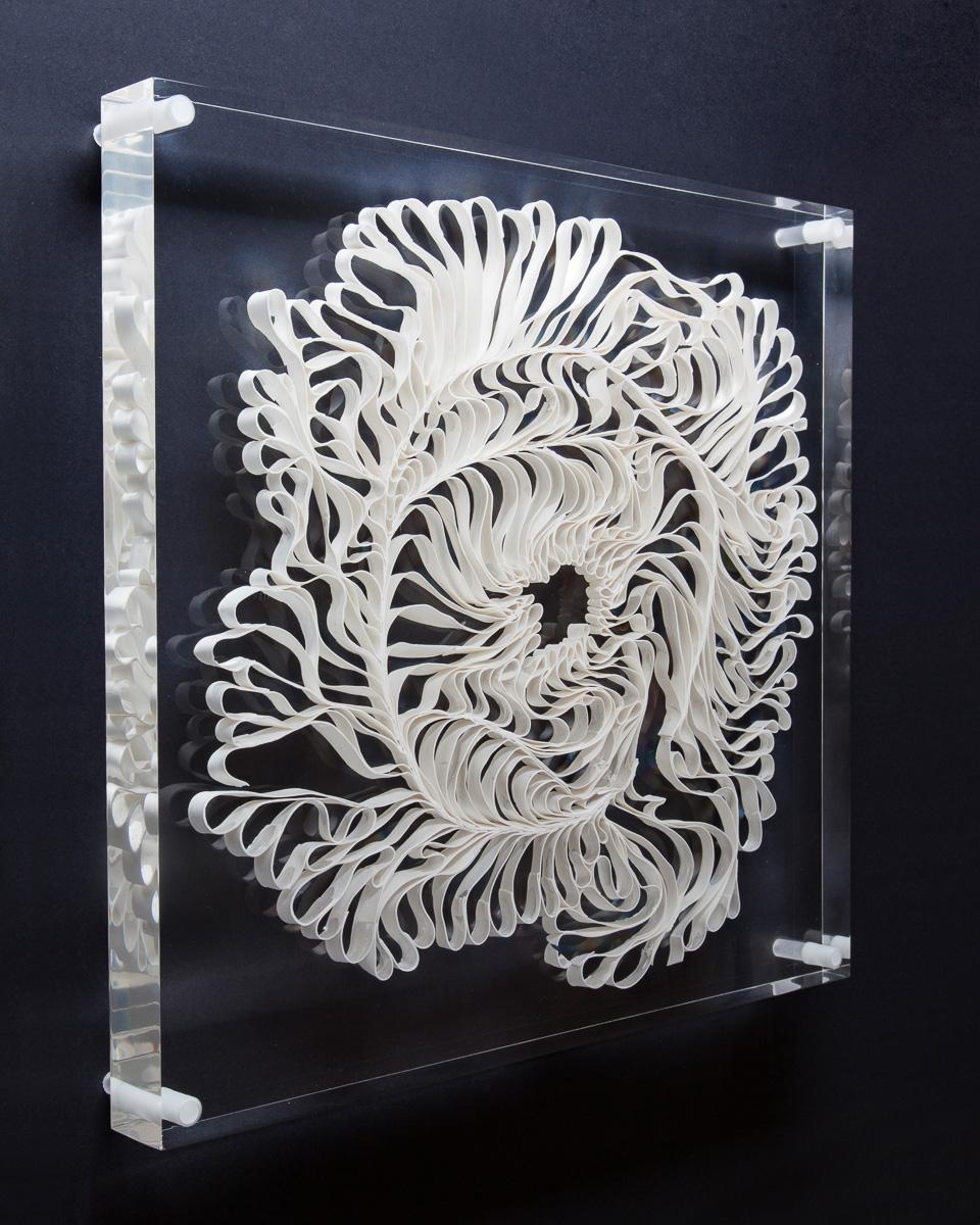 Suspended white porcelain