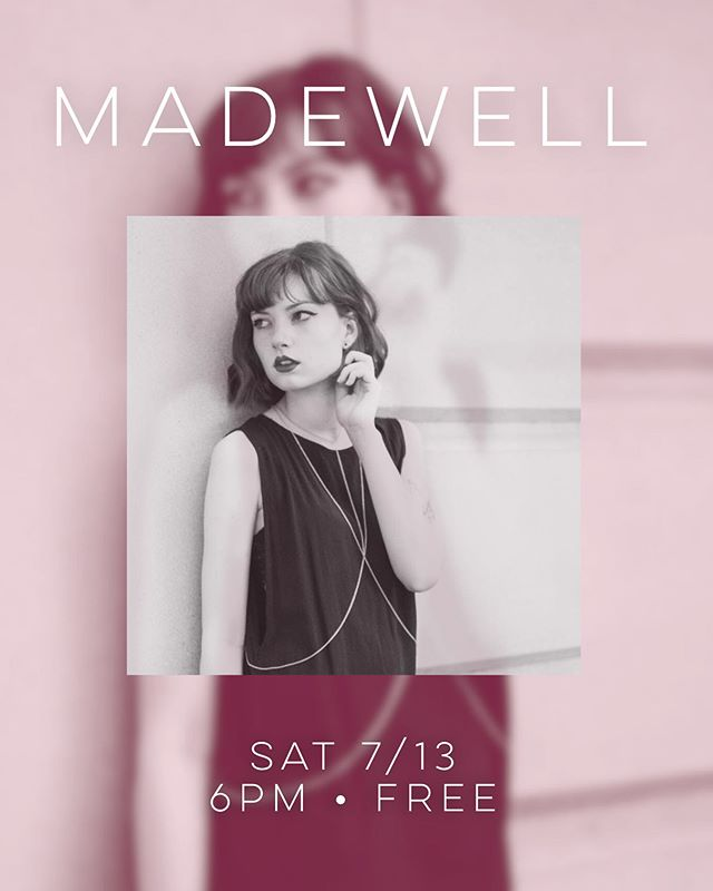 This Saturday. Come enjoy a stripped down set with new songs, drinks, and some well-made clothes ;)