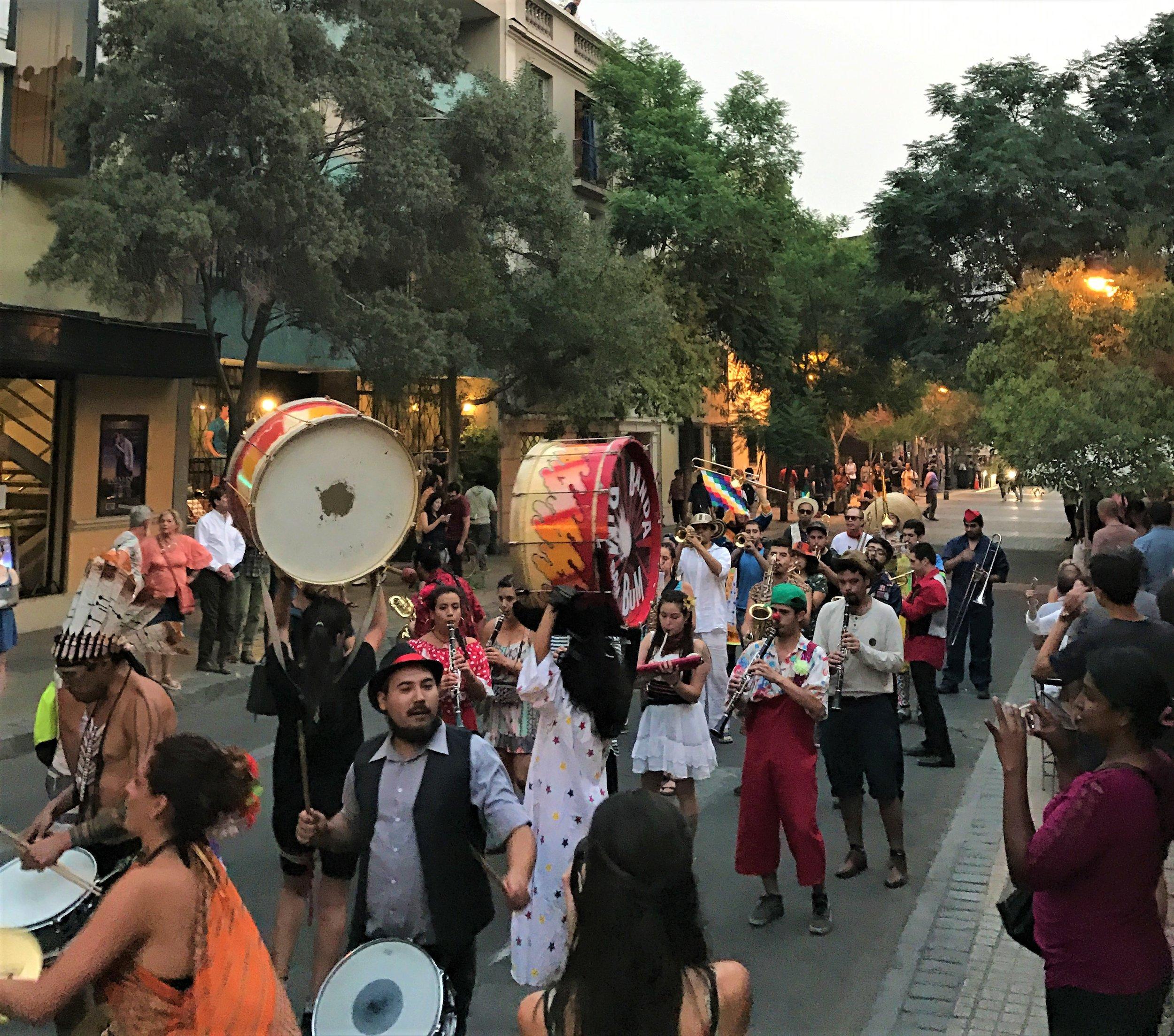 Street Parade in Barrio Lastarrio