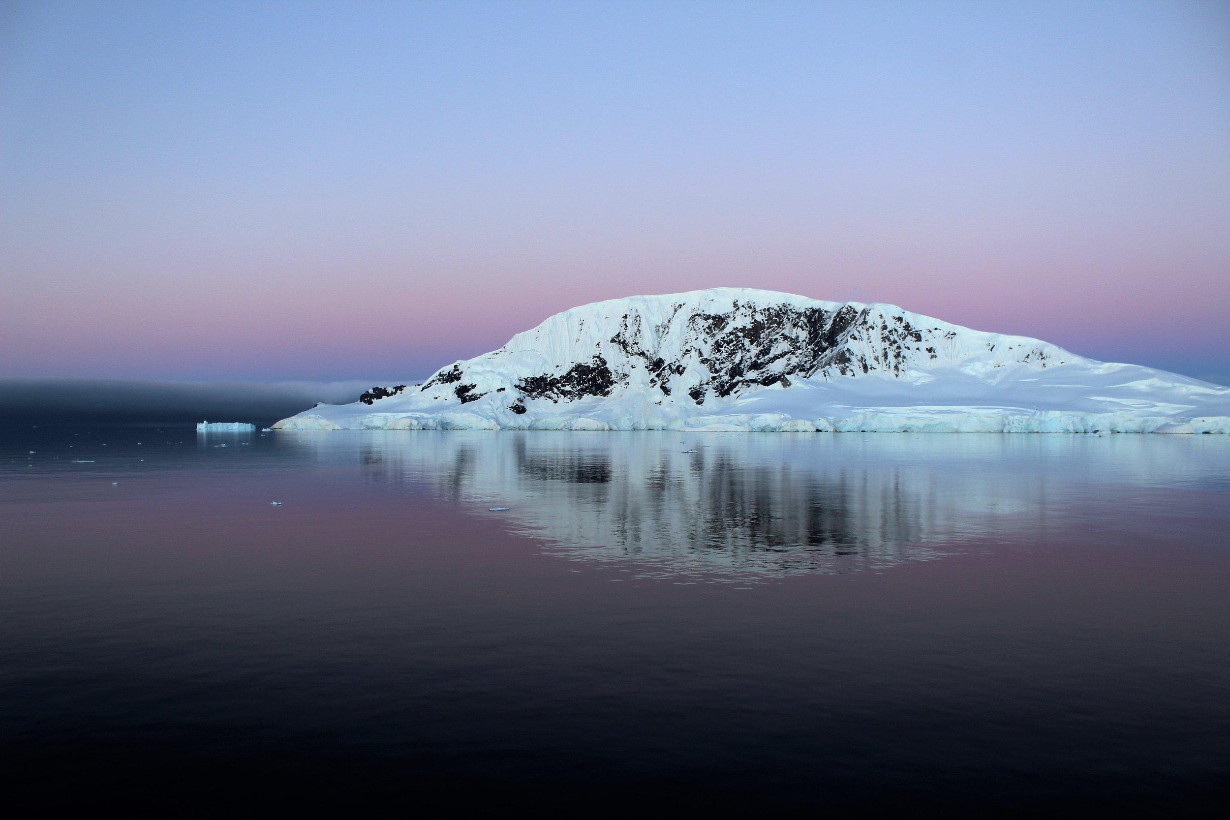 Sunset in Wilhelmina Bay
