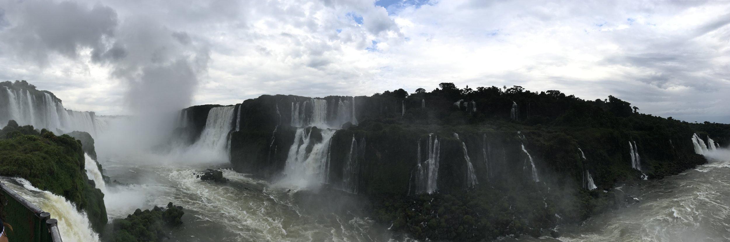Panorama of IguazúFalls