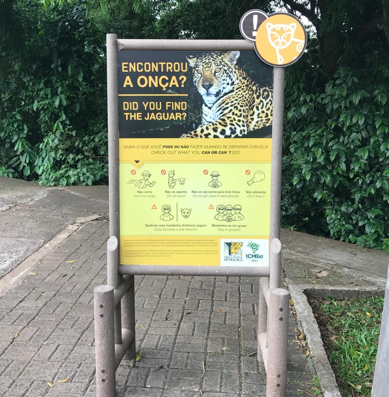 Jaguar warnings!