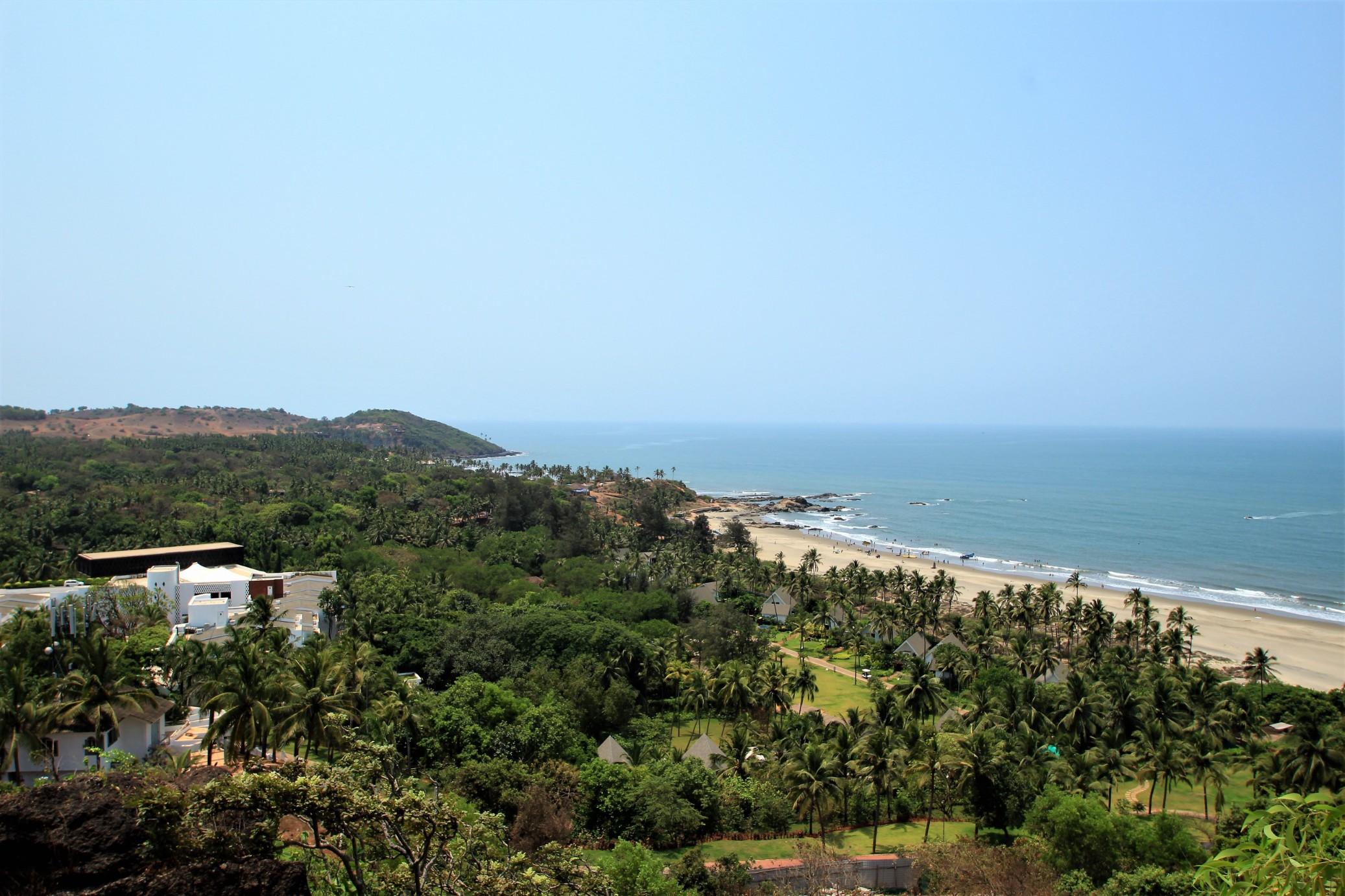 Overlooking the W Resort on Vagator