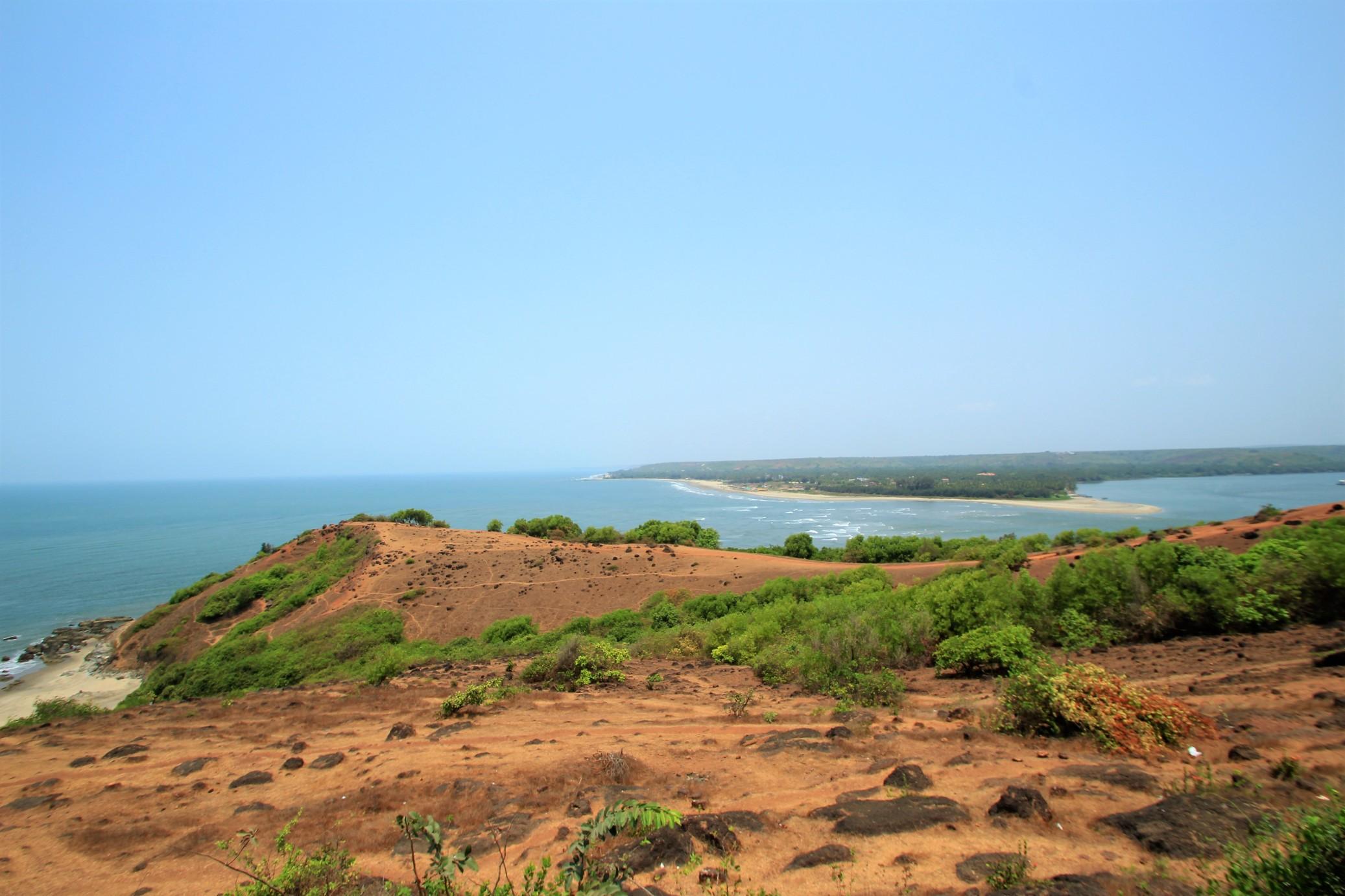 Looking North to Morjim Beach