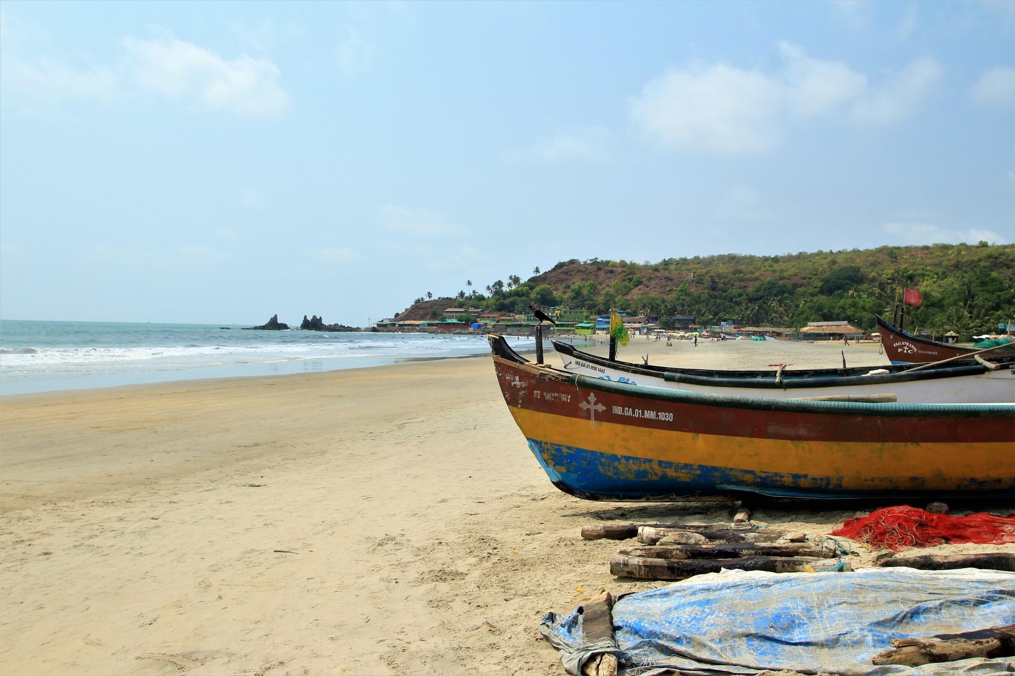 Boats on Arambol Beach