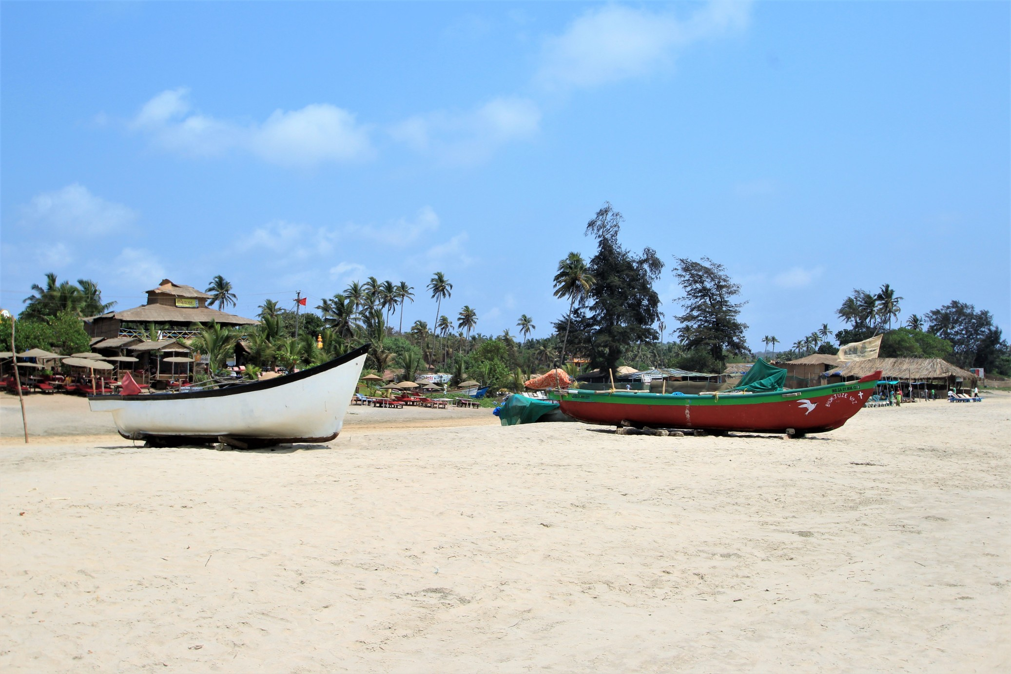 Cottage and Boats on Arambol