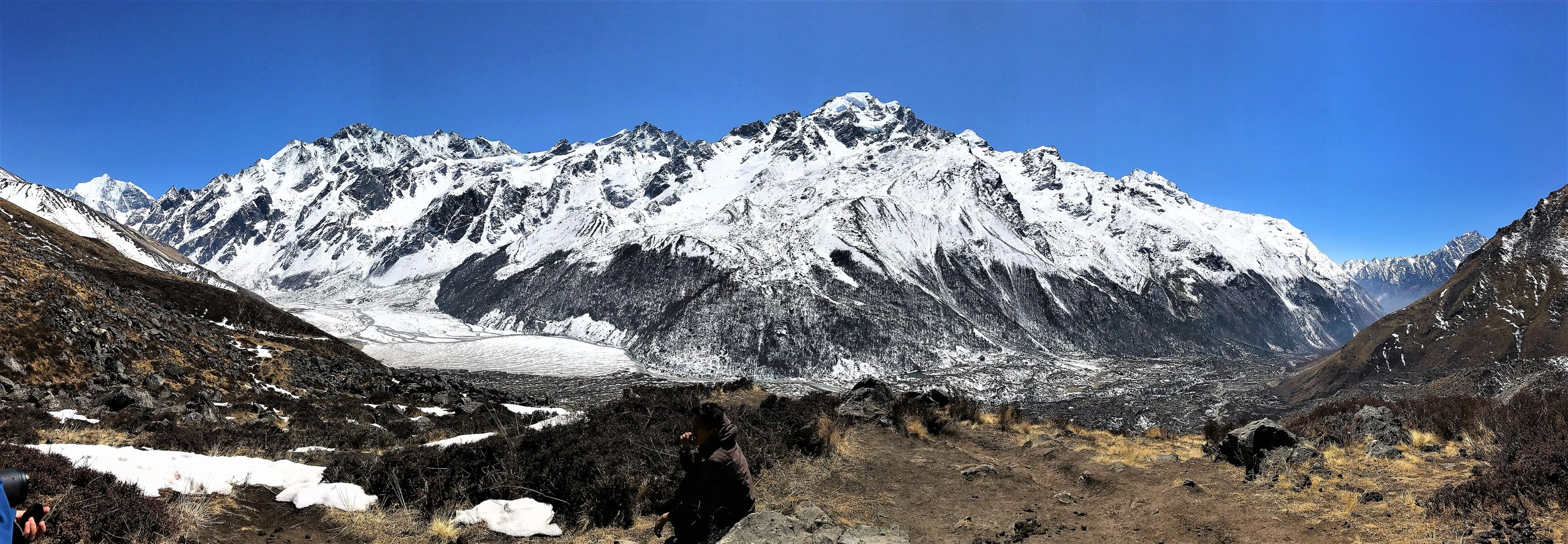 Panorama of Langtang Valley from Kyangin Ri