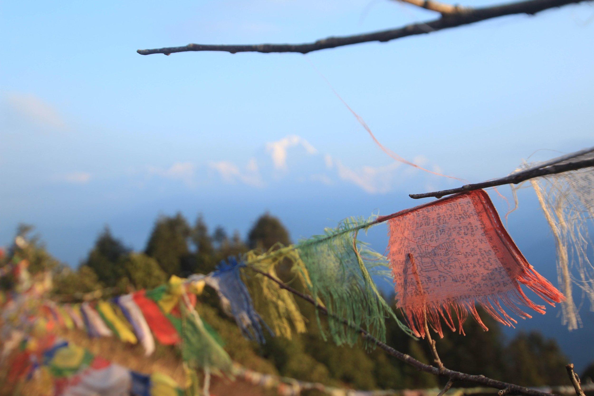 Summit prayer flags