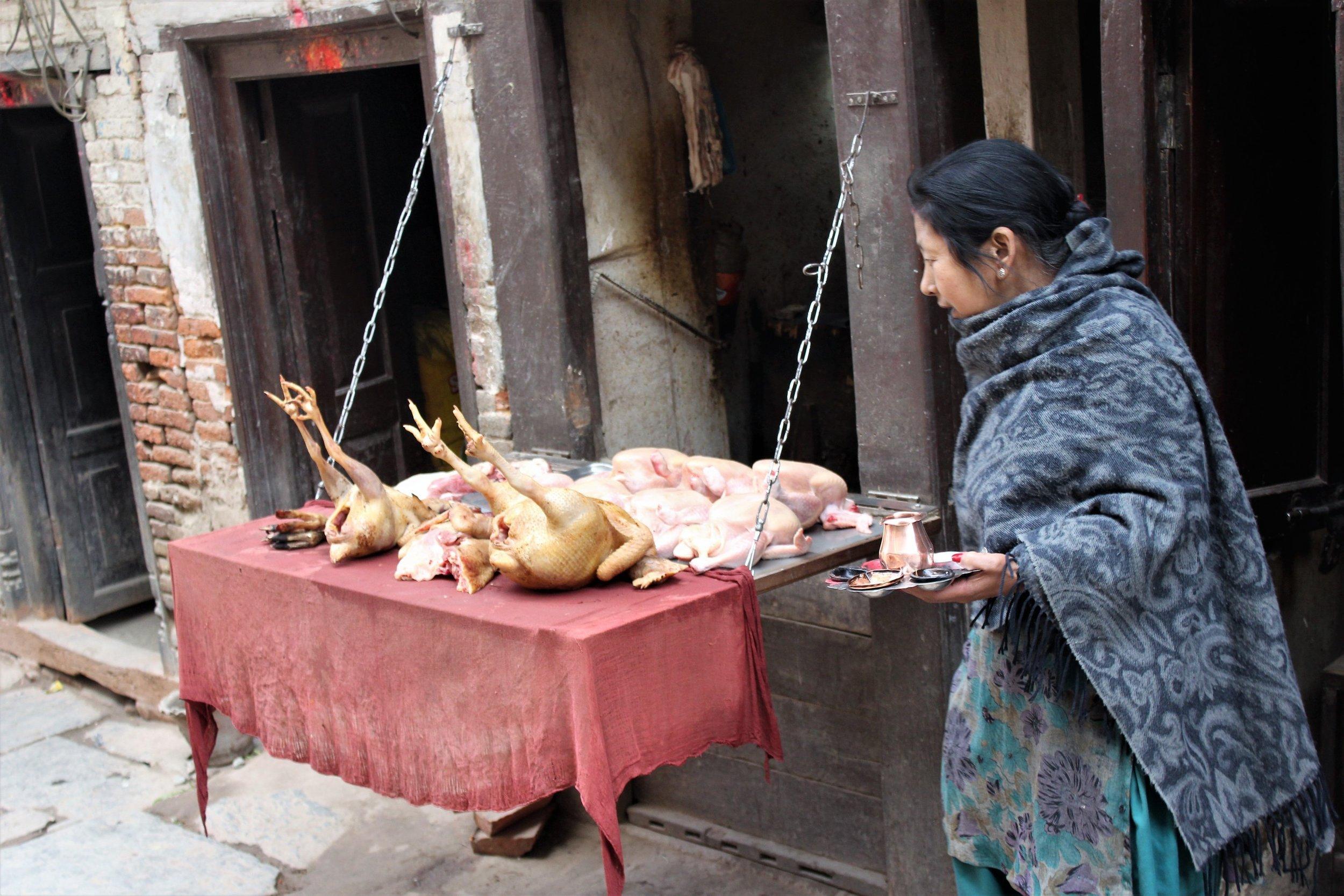 Street meats, Kathmandu