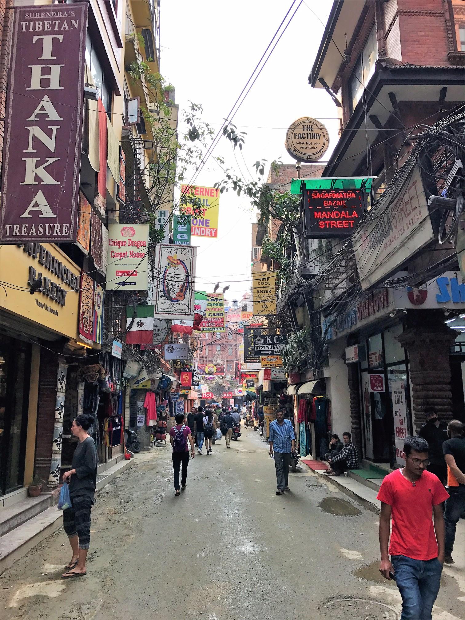 Streets of Thamel, Kathmandu