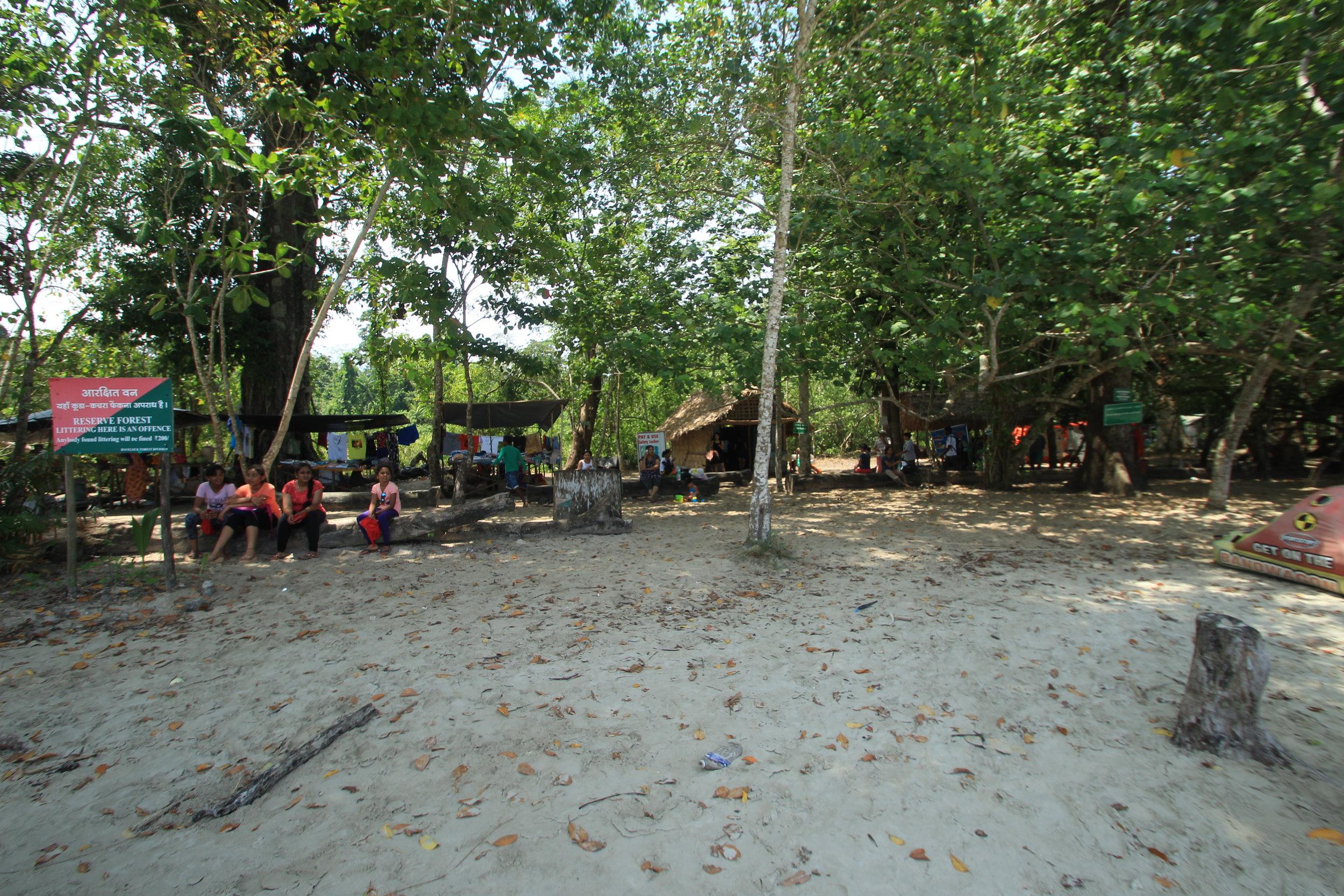 Beachside vendors