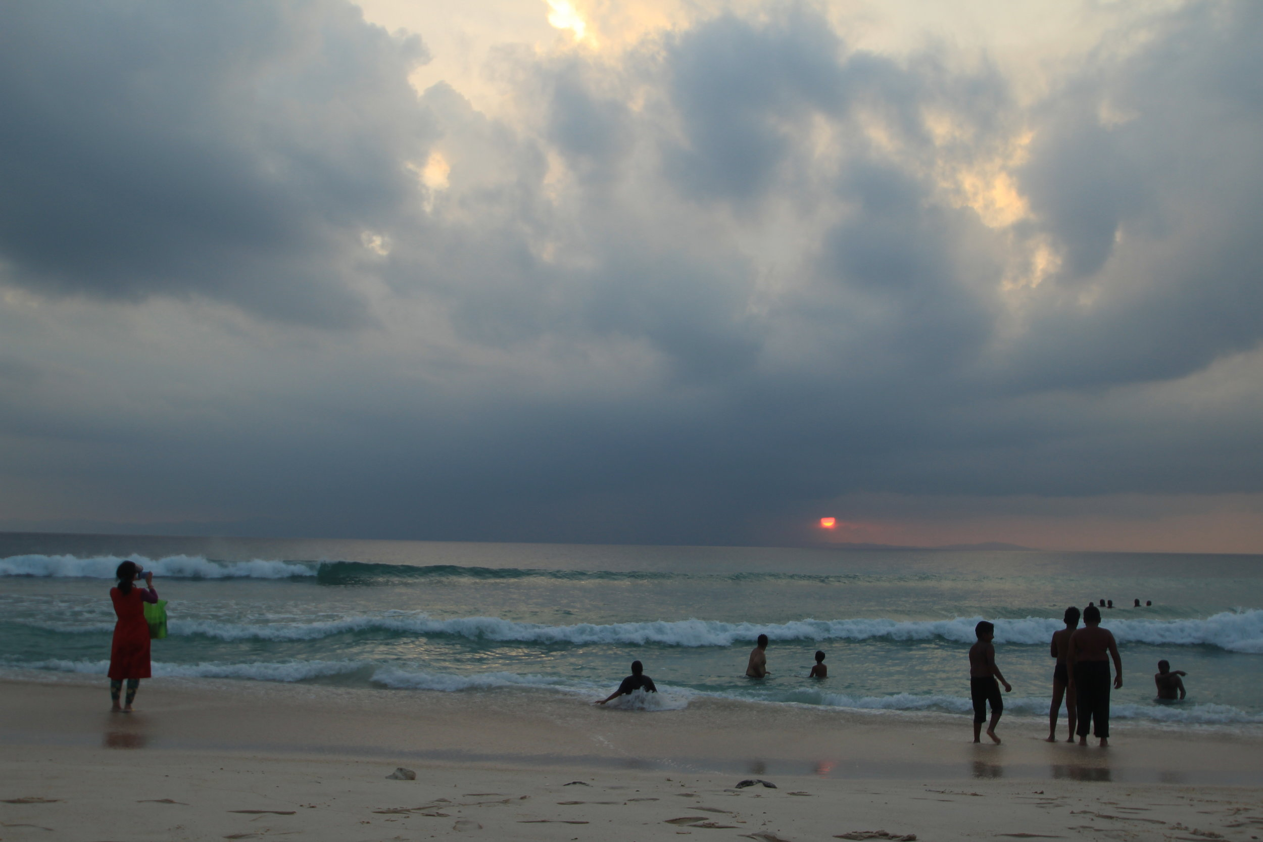 Sunset from Laxmanpur Beach