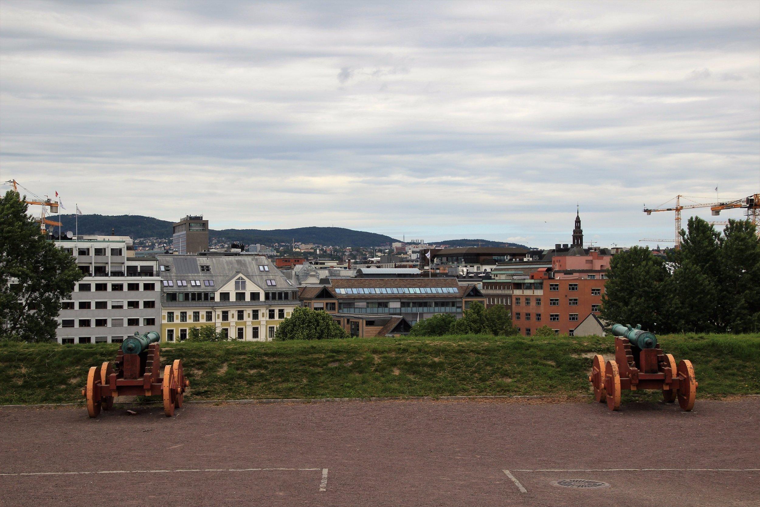 Akershus canons protect Oslo