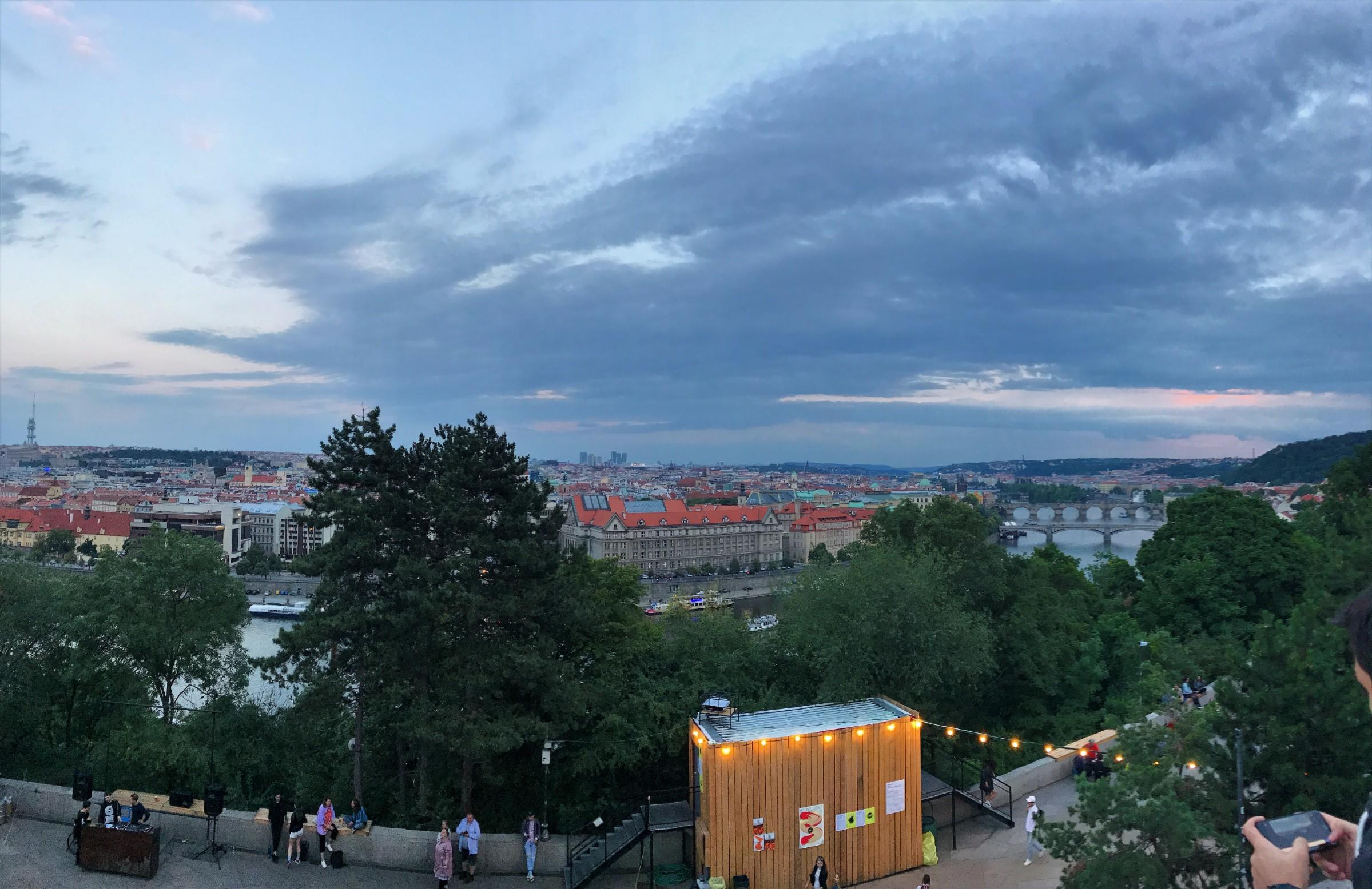 Containall-Stalin Prague View