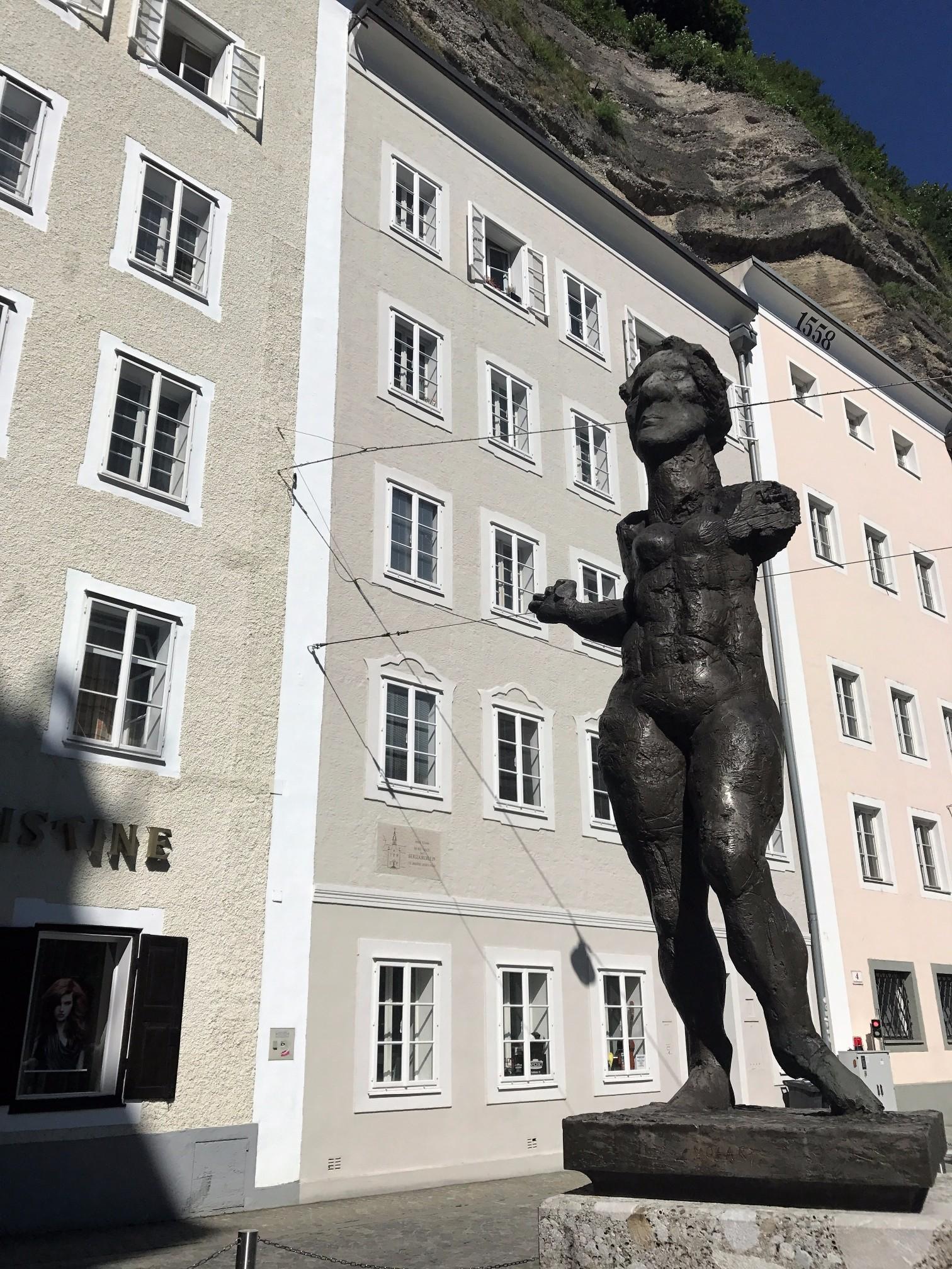 contemporary Mozart statue