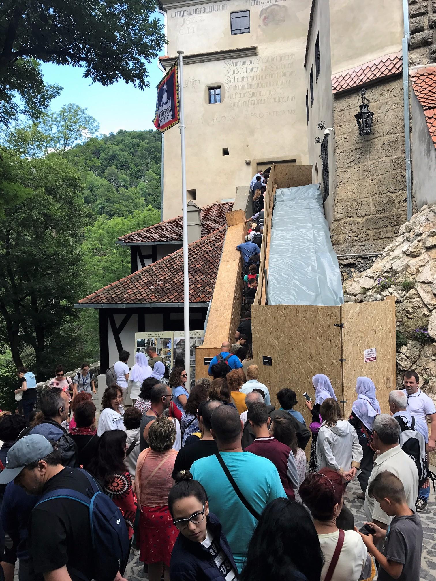 Massive crowds descending on the castle